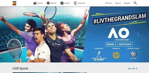 Unblock Australia Open 2018 on Sony Six