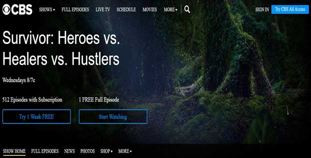 How to Watch Survivor Season 35 on CBS live online without cable