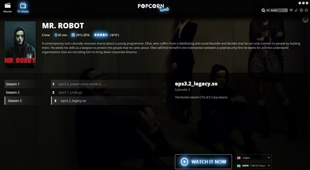 Can You Watch Mr. Robot on Popcorn Time?