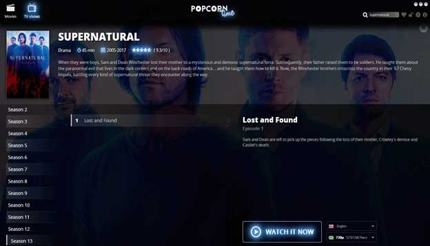 How to Watch Supernatural in UK If you want to watch Supernatural in UK, you can always switch to channel4 on your cable TV. You can even visit justwatch.com and gain access to multiple streaming links for the TV series, which allow you to watch Supernatural in UK. As another option for watching Supernatural live online free, you may want to consider installing Popcorn Time.