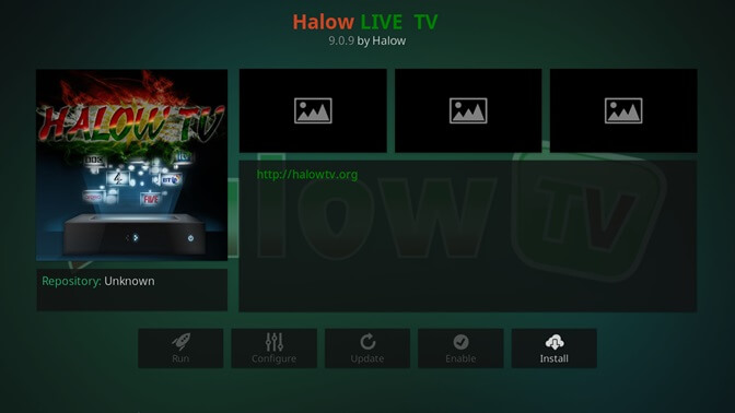Halow Live TV kodi addon
