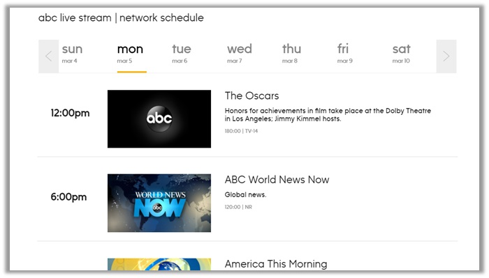 How to Watch the academy awards 2018 on abc network