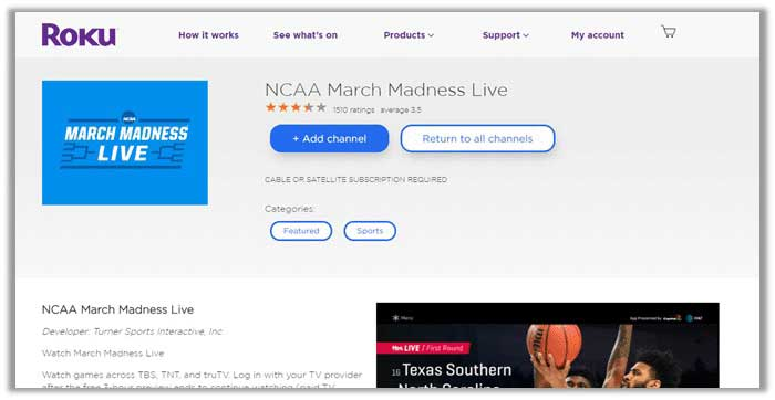 How to Watch NCAA Basketball on Roku