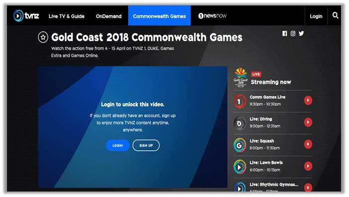 How to Watch Commonwealth Games 2018 in New Zealand