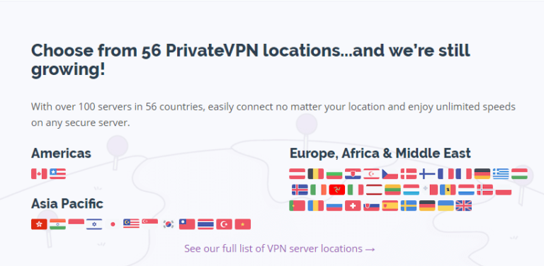 PrivateVPN Servers Review