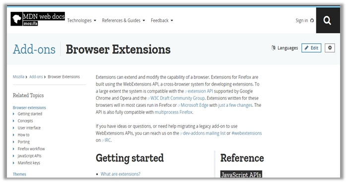 What are Firefox Web Extensions