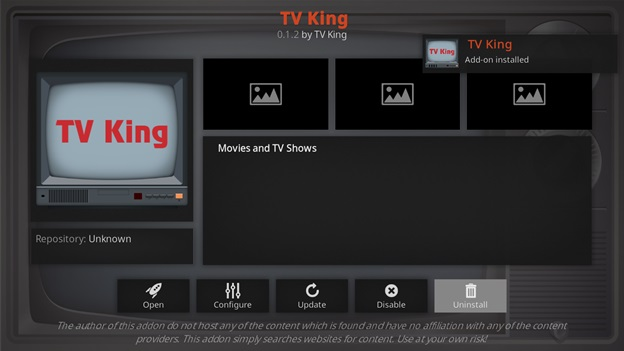 TV King kodi addon