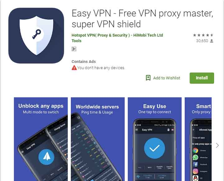 easy vpn android app