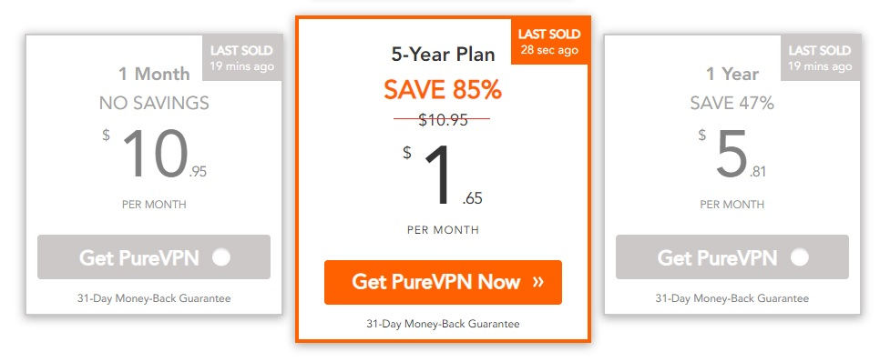 purevpn pricing review