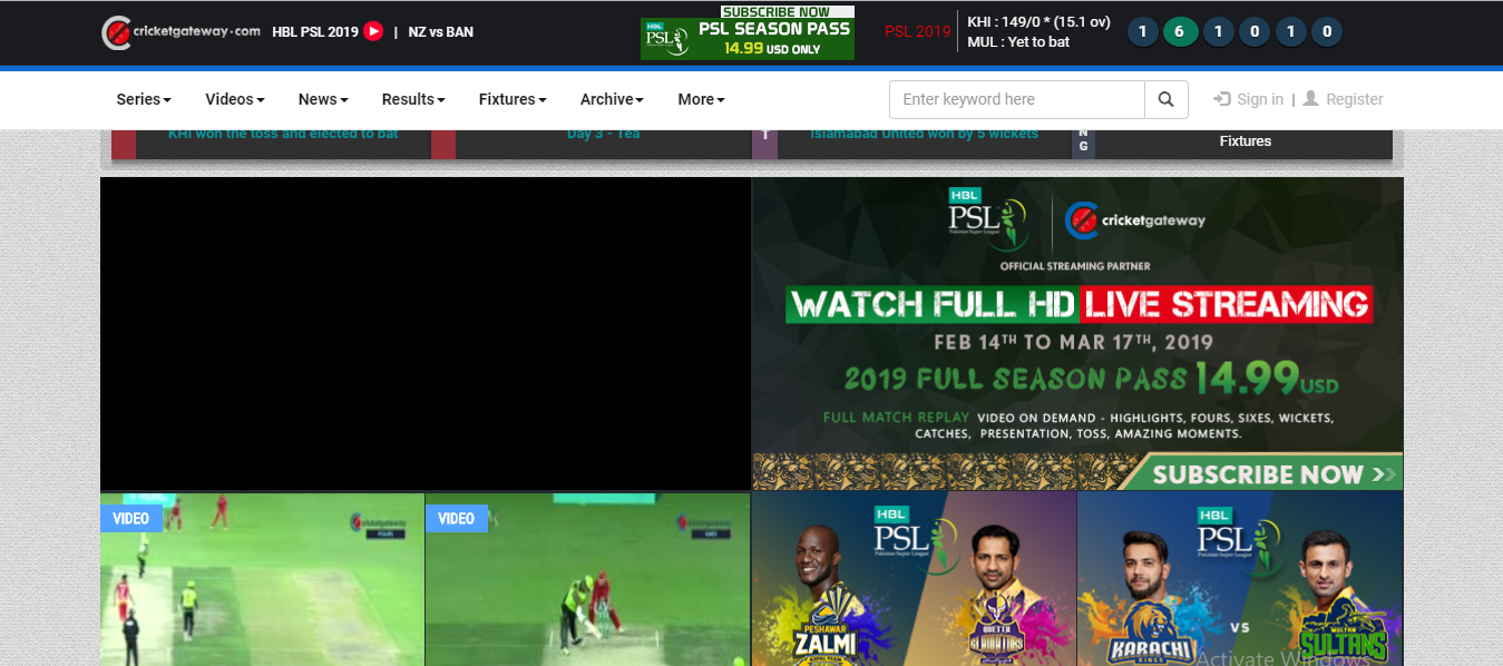 psl on cricket gateway