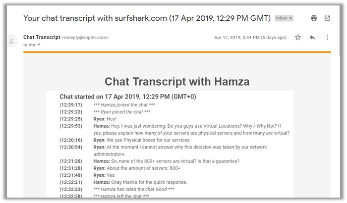 Virtual Locations - Chat Transcript
