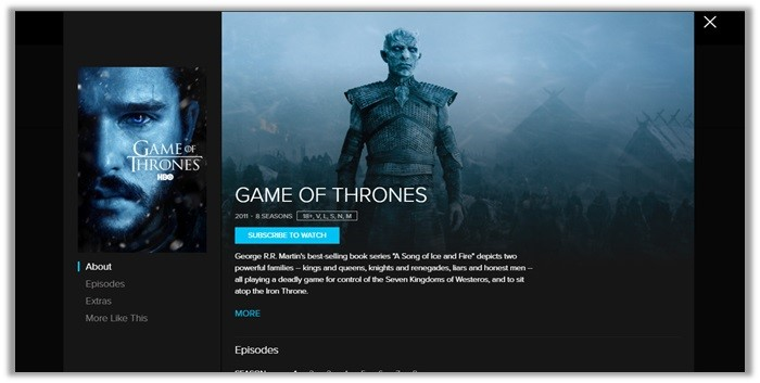 crave tv game of thrones