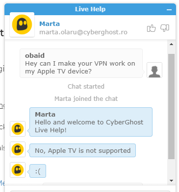 cyberghost customer support review