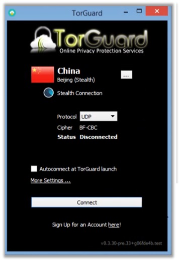 TorGuard China Access