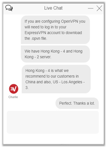 ExpressVPN China Live Chat