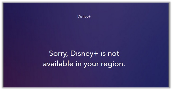 Disney+ Not Available in Your Region