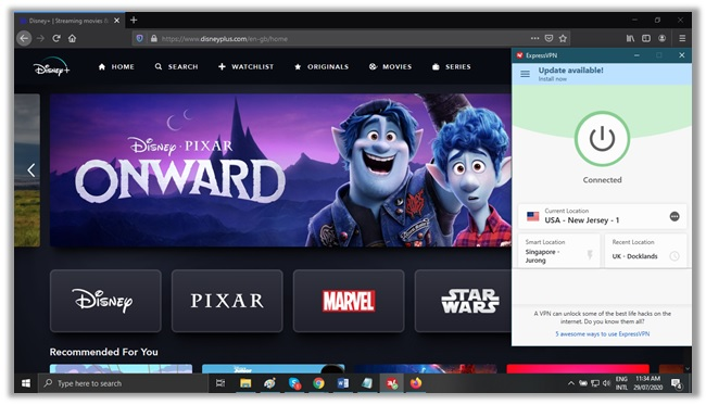 ExpressVPN for Disney Plus