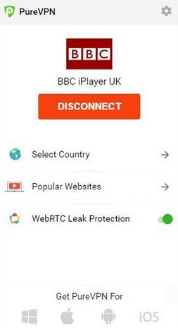 Using PureVPN with BBC iPlayer
