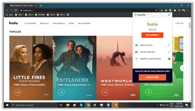 Watch Hulu with PureVPN